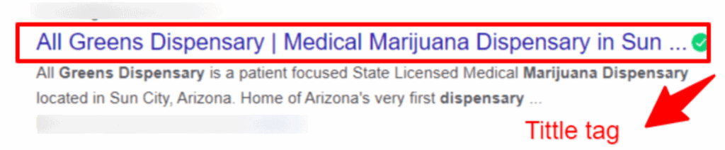 title tag seo cannabis marketing